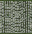 seamless pattern cobblestone street paving vector image