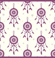 seamless pattern dreamcatchers vector image