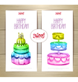 set art cake or dessert banners vector image