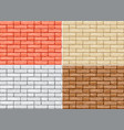 set cartoon brick wall vector image