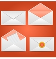 Set of envelopes open closed sealed with a letter vector image vector image