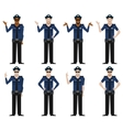 set police men2 vector image vector image