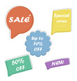 set sale speech bubble banners discount tags vector image