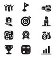 Silhouette Business goal Concept icons set vector image vector image