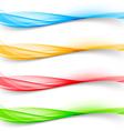 Soft bright colorful web border layout set vector image