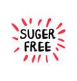 sugar free color logo or label vector image