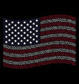 waving united states flag stylization of sinusoid vector image vector image