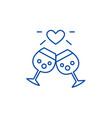 wedding anniversary line icon concept wedding vector image
