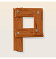 wooden letter p vector image