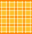 yellow orange tartan with white stripes seamless vector image vector image