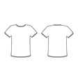 Blank front and back t-shirt design template set vector image