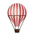 Hot air balloon cartoon design icon vector image