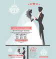 wedding invitation with cartoon bridegroom vector image