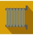 Gray radiator flat design vector image