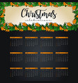 2019 calendar design template of christmas or new vector image