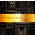 abstract black background with golden squares vector image vector image