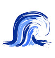 abstract blue ocean wave logo vector image
