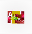 abstract geometric option infographic banners a b vector image vector image