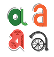 abstract small letter a vector image vector image