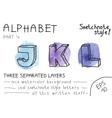Alphabet - Part 1 vector image
