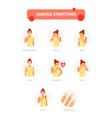 anemia symptoms vector image vector image