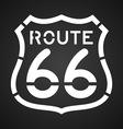 Asphalt Route 66 Paint vector image vector image