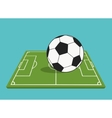 ball and league of soccer sport design vector image vector image