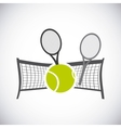 ball and racket icon Tennis design vector image vector image
