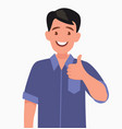 bearded happy man shows thumb up gesture cool vector image