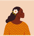 beautiful black woman young african american vector image