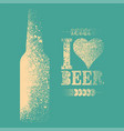 beer typography stencil spray grunge style poster vector image vector image