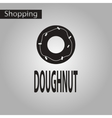 Black and white style icon donut vector image