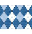 Blue argyle seamless pattern vector image vector image
