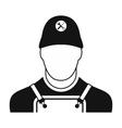 Builder black simple icon vector image