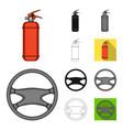 car vehicle cartoonblackflatmonochromeoutline vector image vector image