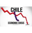 chile map financial crisis economic collapse vector image