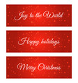 christmas label on winter background vector image vector image