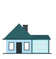 Cottage with a garage icon vector image