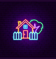 coutryside house neon sign vector image vector image