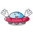 crazy ufo mascot cartoon style vector image