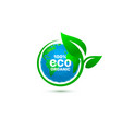 eco green organic leaf a tree icon on a white vector image vector image