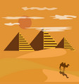 egypt desert with piramid vector image vector image
