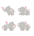 elephant mom and ba vector image vector image