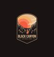 emblem patch logo black canyon national park vector image