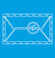 envelope with postage stamp icon outline style vector image vector image
