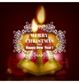 Festive Christmas blurred background vector image vector image