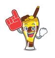 foam finger mangonada fruit mascot cartoon vector image vector image