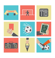 Football or Soccer Icons Set vector image