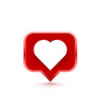 frame heart like social network white background vector image vector image