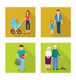generation and happy symbol vector image vector image